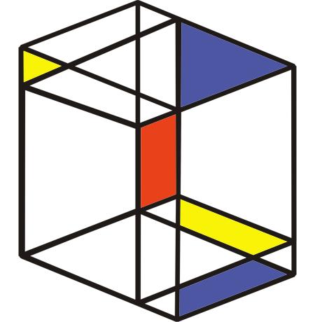 O dia que Piet Mondrian desenhou um par de cubos